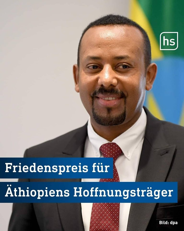 Ethiopia's Prime MinisterAbiy Ahmed receives Hesse Peace Prize