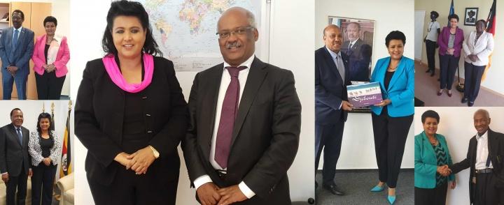 Ambassador Mulu Solomon undertakes successive courtesy call meetings