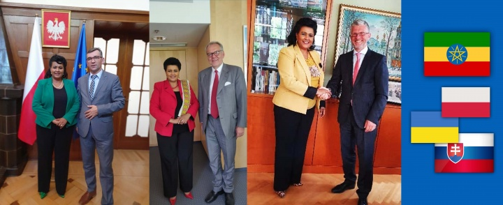 Ambassador Mulu Solomon pays a courtesy call to three east and central European Nations