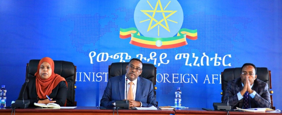 Deputy Prime Minister and Foreign Minister Demeke Mekonnen briefs Ambassadors and HRDG representatives on current situations in Tigray